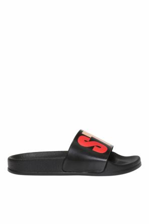 Logo-printed sliders od Stella McCartney Kids